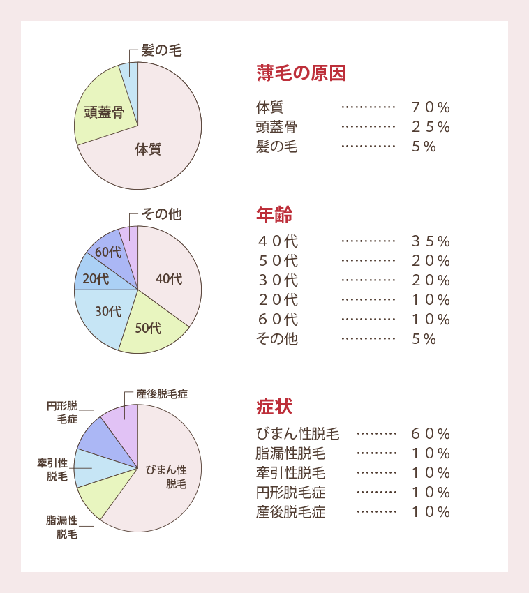薄毛の原因グラフ